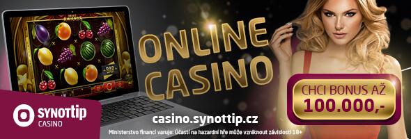 nejlepší bonusy u SYNOT TIP casina
