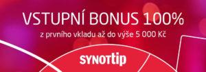 Využij bonus ke vkladu od SYNOT TIPu