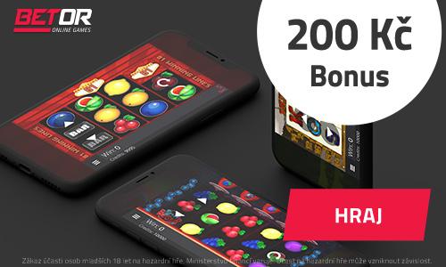 Hrajte u Betoru s 200 K� bonusem zdarma