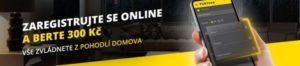 Zaregistrujte se u Fortuny a získejte bonus bez vkladu 300 Kč