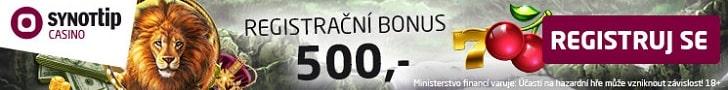 Casino bonus bez vkladu 500,-