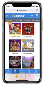 Tipsport mobilní aplikace