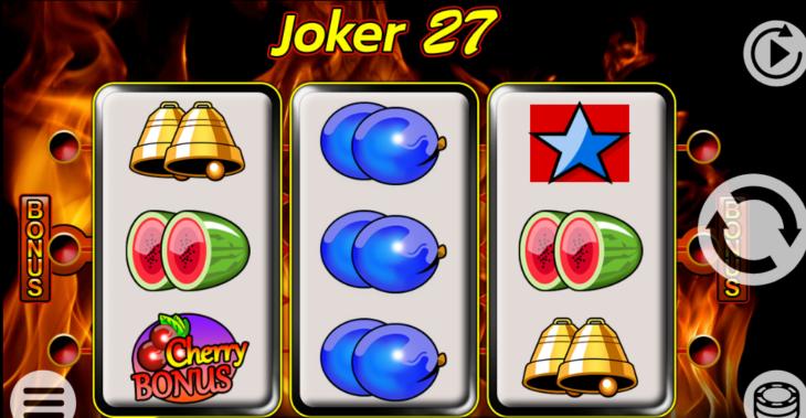 Výherní online automat Joker 27 s bonusem