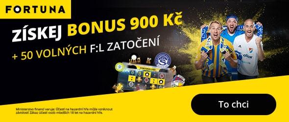 Fortuna free spiny za registraci a bonus 900 Kč