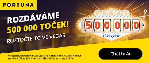 Fortuna rozdává 500 000 toček zdarma!