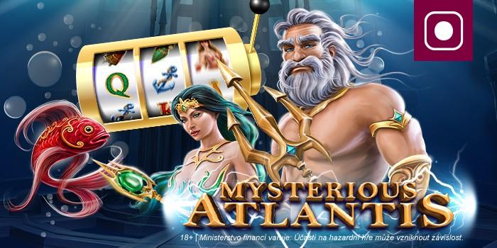 Bonus až 300 free spinů na automat Mysterious Atlantis