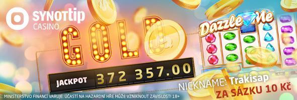 Rekordní jackpot u SYNOT TIP casina