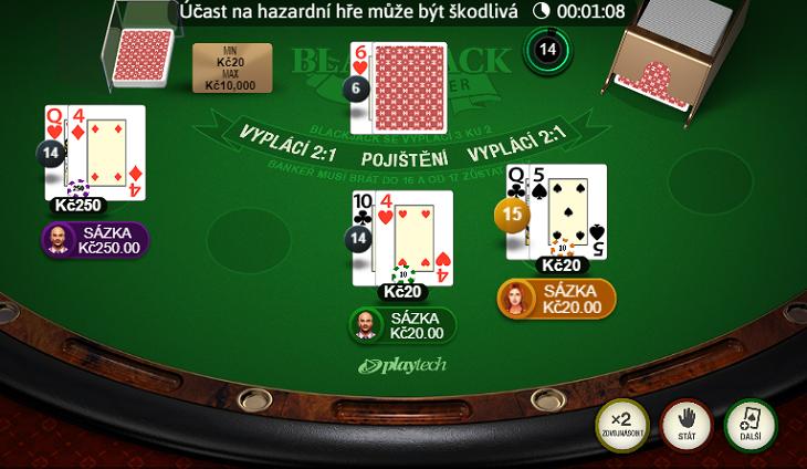Multiplayer Blackjack u Fortuny