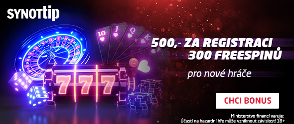SYNOT TIP casino bonus 300 free spins