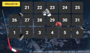 Hokejový kalendář u Fortuny