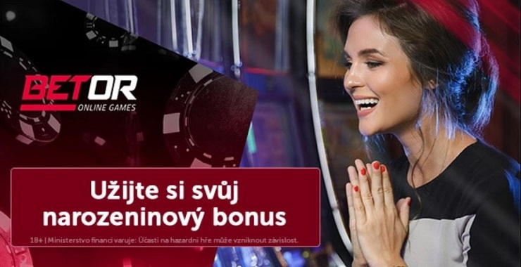 Betor casino narozeninový bonus