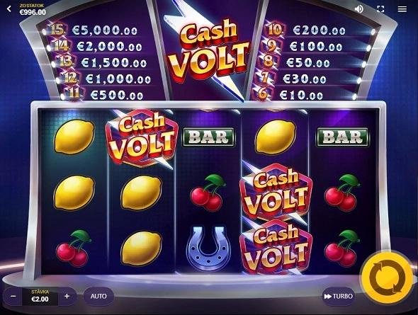 Hrací automat Cash Volt