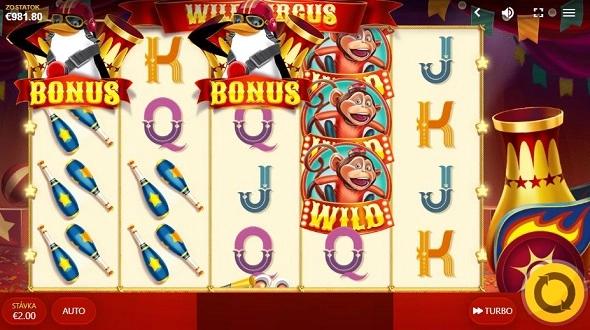 Hrací automat Wild Circus